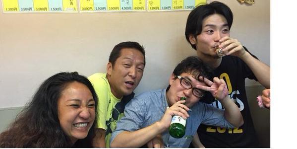 左から、違法SMクラブの朝鮮人女王様だった李信恵(リシネ)、しばき隊の伊藤大介、木野トシキ、朝鮮ウリスト教牧師の息子のSEALDs奥田愛基