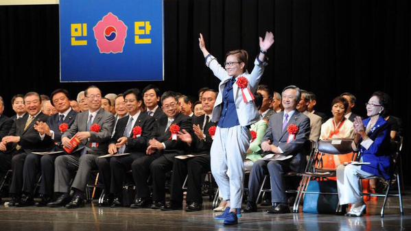 「終戦の日」に、民団の「光復節中央記念式典」でお祝いをした日本の国会議員