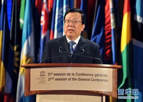中国教育副部長がユネスコ総会議長に選出
