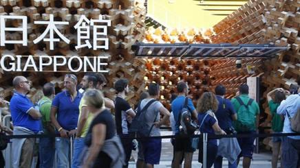 Un altro sabato pazzesco 7 ore di coda al padiglione del Giappone!