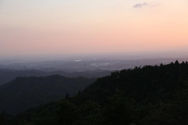 夕景。なんだかいい感じ。