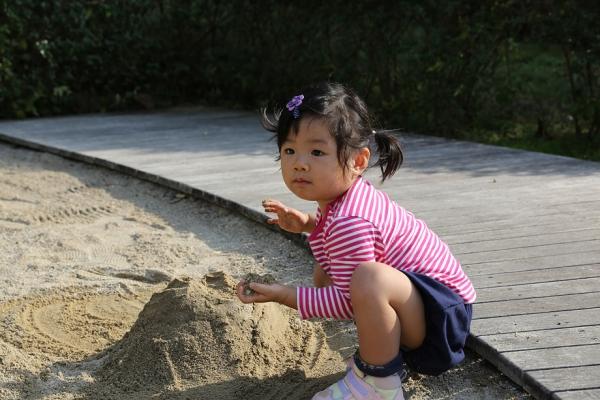 砂場遊びもした。