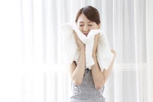 タオルの刺激による肌荒れ