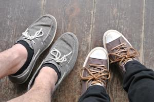 ぺたんこの靴