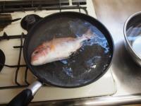フライパンで連子鯛煮付け23