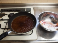 フライパンで連子鯛煮付け26