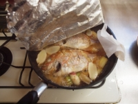 フライパンで連子鯛煮付け31