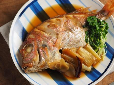 フライパンで連子鯛煮付け07