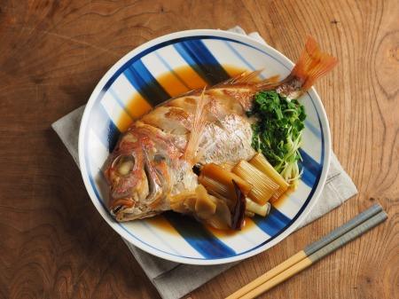 フライパンで連子鯛煮付け06