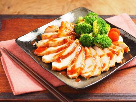 柔らか鶏むね肉の甘辛焼き01