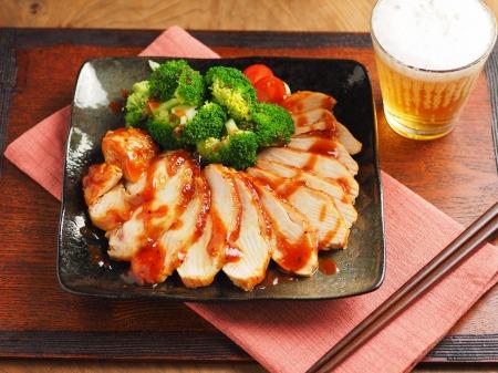 柔らか鶏むね肉の甘辛焼き23