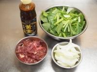 鶏レバーと小松菜の焼き肉炒22