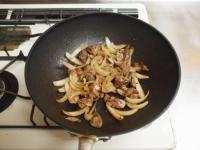 鶏レバーと小松菜の焼き肉炒29