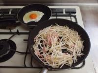 もやし納豆小松菜味噌汁29