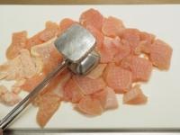 鶏むね肉と茄子のアラビアータ05