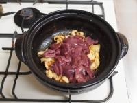 鶏レバーと鶏皮のすき焼き鍋74
