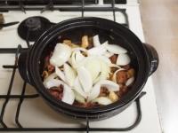 鶏レバーと鶏皮のすき焼き鍋77