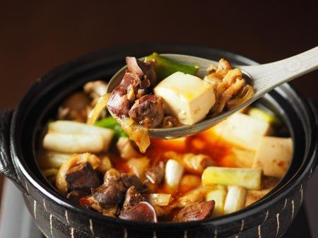 鶏レバーと鶏皮のすき焼き鍋62