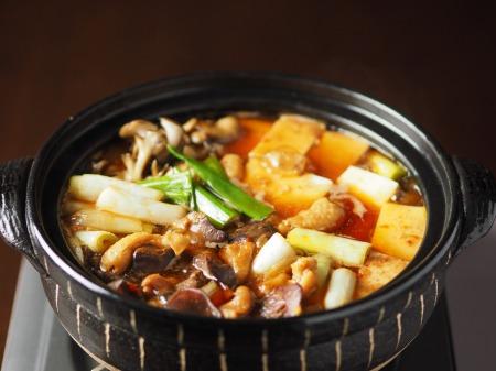鶏レバーと鶏皮のすき焼き鍋49