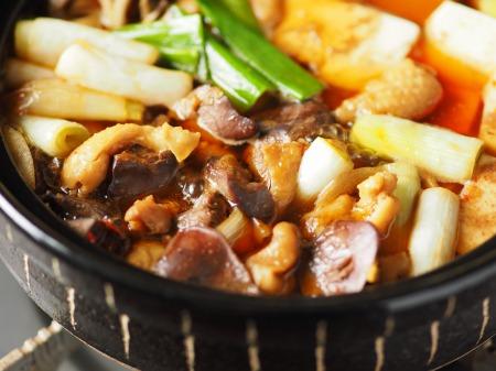 鶏レバーと鶏皮のすき焼き鍋21