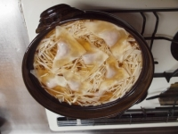 手作りワンタン鍋46