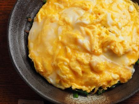 ほうれん草バターのとろとろ卵06