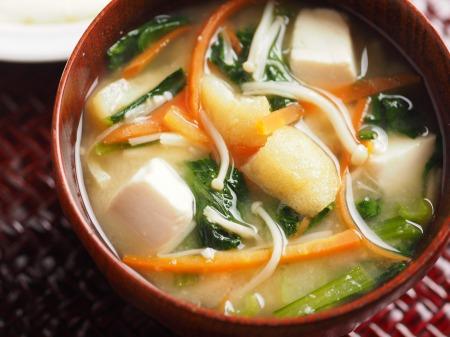 小松菜の具沢山味噌汁14