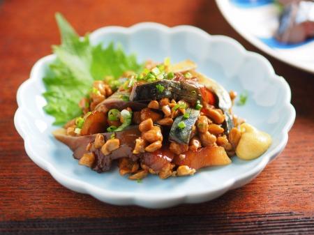 鯖の刺身、刺身の納豆和え08