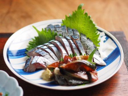 鯖の刺身、刺身の納豆和え10