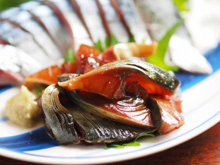 鯖の刺身、刺身の納豆和え12