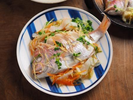 連子鯛のフライパン蒸し14