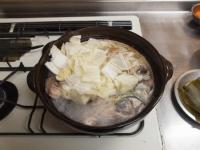 ブリあらのにんにく味噌鍋45