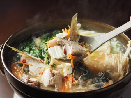 ブリあらのにんにく味噌鍋26