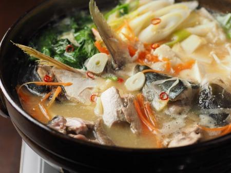 ブリあらのにんにく味噌鍋13