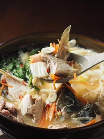 ブリあらのにんにく味噌鍋23