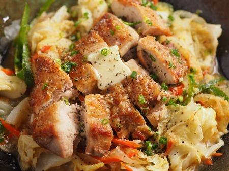 鶏もも肉のちゃんちゃん焼き11