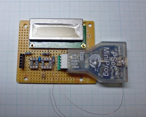 MiniProg電流計製作中