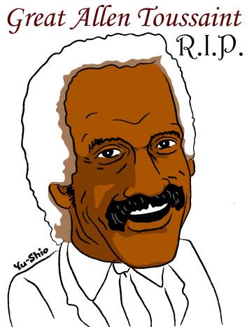 Allen Toussaint caricature