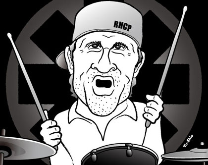 Chad Smith Red Hot Chili Peppers caricature