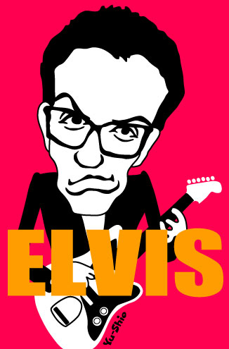 Elvis Costello caricature