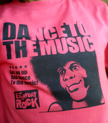 EverydayRock T Shirt Sly Family Stone caricature