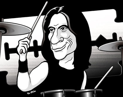 Scott Travis Judas Priest caricature