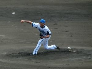 菊地和正投手。