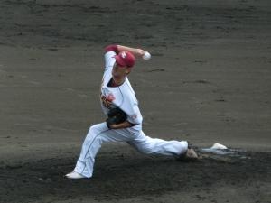 藤江均投手。