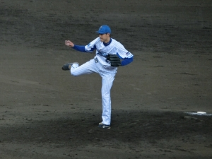 加賀美希昇投手。