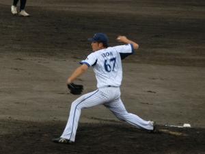 伊藤拓郎投手。