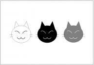 猫の顔のフリー素材・画像テンプレート
