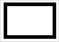 枠線(黒い太線)のフリー素材・画像テンプレート