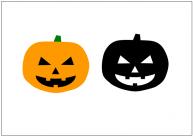 ハロウィン・かぼちゃオバケのフリー素材・画像・イラスト・テンプレート