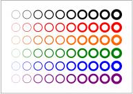 円のフリー素材・画像テンプレート